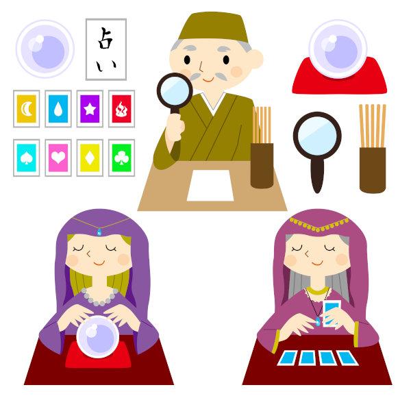 占い師のタイプ3種類のイメージ