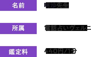 不倫の悩みに強いヴェルニ所属・明沙先生!440円/1分~